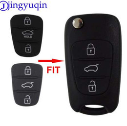 Llave de coche cubierta de goma online-Jingyuqin Nuevo Reemplazo Pad de Goma 3 Botones Flip Car Remote Shell Dominante para Hyundai I30 IX35 Kia K2 K5 Key cover Case