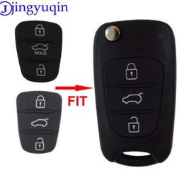 llavero dodge Rebajas Jingyuqin Nuevo Reemplazo Pad de Goma 3 Botones Flip Car Remote Shell Dominante para Hyundai I30 IX35 Kia K2 K5 Key cover Case