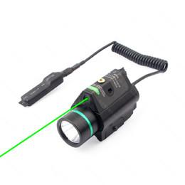 Combo de linterna online-Linterna táctica 2 en 1 M6 CREE LED Pistola luz láser verde Combo con Picatinny Rail Black