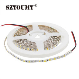 2019 cinta de luz led doble SZYOUMY 3014 Led Strip 5MM Doble fila 216 Leds / M IP20 Flexible Light Dual White Led Tape 10MM PCB Blanco Color cálido 5M / Lot