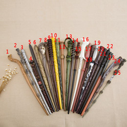Wholesale Metal Wands - Creative Cosplay 18 Styles Hogwarts Harry Potter Series Magic Wand New Upgrade Resin with Metal Core Harry Potter Magical Wand OTH057