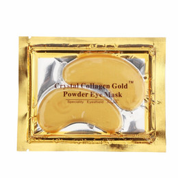 mask shipping Coupons - NEW Crystal Collagen Gold Powder Eye Mask Golden Mask stick to dark circles Free Shipping