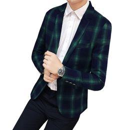 Hommes Automne Nouvelle Arrivée Mode Plaid Blazer 2018 Slim Fit Single boucle Style britannique Veste De Costume Pour Hommes Manteaux Asiatique Taille ? partir de fabricateur