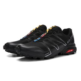 Wholesale outdoor lighted cross - 2018 Salomon Speed Cross 3 Speedcross Pro outdoor Mens Running Shoes Light Sneaker for Outdoor Walking Jogging Men Shoes