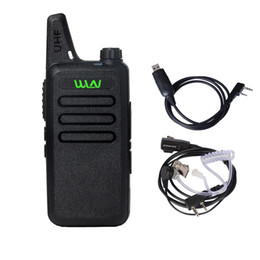 Wholesale Two Way Headset Walkie Talkie - WLN KD-C1 UHF 400-470 MHz MINI Handheld Two-Way Ham Radio Communicator HF Transceiver Portable Walkie Talkie With headset Cable
