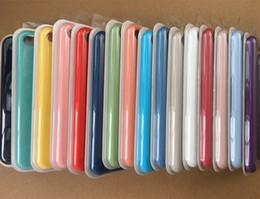 Copertura iphone i5 online-Custodia originale in silicone per telefono i5 SE 6 6s 7 8 plus e ix Custodia ufficiale per telefono con logo e scatola di imballaggio
