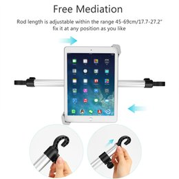 "Wholesale Ipad Stand Rotate - 7-11"" Aluminum Tablet Car Holder Car Back Seat Tablet Car Mount Stand Stents For iPad Mini 2 3 4 Air 2 For Samsung Xiaomi Kindle"