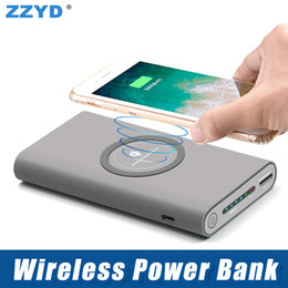 portable charging pack Coupons - ZZYD 8000mAh 3 in 1 Wireless Power Bank Portable Wireless Charging External Battery Pack for iPhone 8 X Samsung S8 Note 8