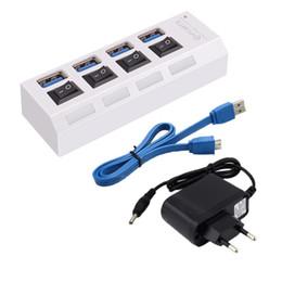 Canada Par DHL ou EMS 100 pcs Nouveau 4 Ports Avec interrupteur marche / arrêt pour ordinateur portable de bureau UE Adaptateur secteur USB 3.0 HUB adaptateur USB Offre