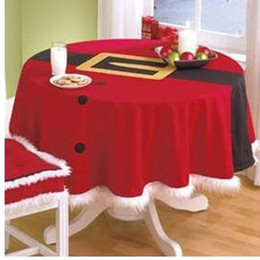 BitFly XMAS StyleTable Bez Yuvarlak Otel Masa Örtüsü Noel Düğün Ziyafet Masa Örtüsü Ev Tekstili cheap round wedding table covers nereden yuvarlak düğün masa örtüleri tedarikçiler