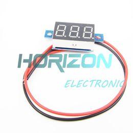 voltímetros de panel digital Rebajas Medidor de panel LED rojo Mini voltímetro digital de batería de litio DC 3.3V - 17V