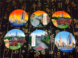 Wholesale World Travel Stickers - 6pcs set China City Shanghai Beijing Great Wall Fridge Magnet World Travel Tourism Souvenir Crafts