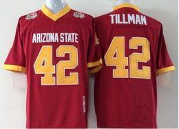 Высокое качество мужские штат Аризона Солнце дьяволы 42 Пэт Тиллман поза чаша игры колледж футбол Джерси красный размер M-3XL от