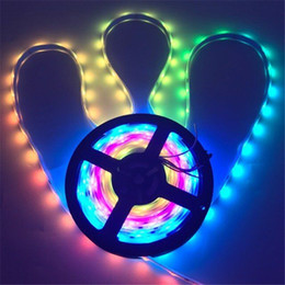 Wholesale led 2811 - Waterproof Digital Chasing Dream Color LED Strip 12V 30leds m 2811 RGB led strip light 5050 SMD RGB IP65 Auto changing RGB color