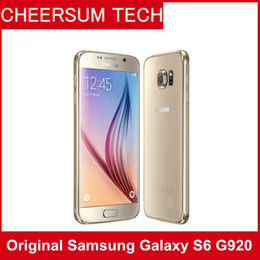 Wholesale Retail Cameras - Original samsung Galaxy S6 G920A T V P with retailed box LTE Mobile Phone Octa Core 3GB RAM 32GB ROM 16MP 5.1 inch Android 5.0 1pcs free DHL
