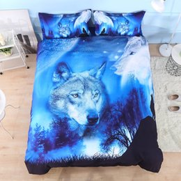 Wholesale Wolf 3d Bedding - Wannaus New 3D Wild Wolf and Natural Scenery Printed 4-Piece Bedding Sets Duvet Covers Duvet cover set sheets pillowcases