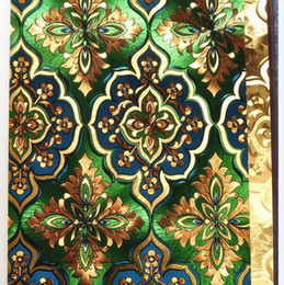 Wholesale Reflections Gold - Luxury brightly Green gold foil wallpapper for living room
