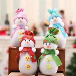 Wholesale Christmas Eve Gift Boxes - Christmas Eve Fruit Box Snowman Doll Apple Bag Christmas Gift Bag PTCT