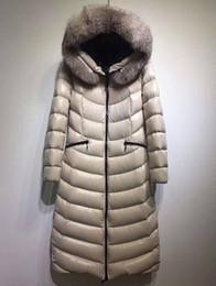 2019 abbigliamento sci Famoso marchio lungo piumino per le donne Moda cappotto invernale tuta da sci Vera pelliccia con cappuccio donna abiti di design di lusso abbigliamento sci economici