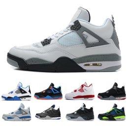 wholesale dealer 2e208 de0a7 Top 4 zapatos de baloncesto de cemento blanco Oreo para hombres 840606-192  Royal blue Pure Money 4s zapatillas deportivas clásicas baratas EE. UU. 7-13