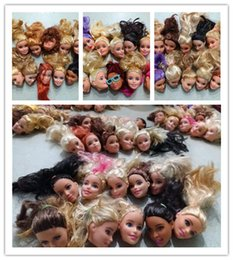 Wholesale Toys Doll Head - Wholesale price special offer Birthday Gift 10pcs original doll heads DIY doll accessories change make up head For Barbie Doll