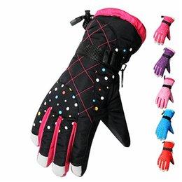 Wholesale Riding Gloves For Women - Wholesale-waterproof gloves for girls Snow Gloves Ski Chilren Motorcycle Riding kids Winter ski gloves women