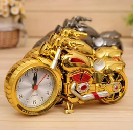 Wholesale Retro Modern Clocks - Motorcycle Alarm Clock Shape Creative Retro Gifts Upscale Furnishings Boutique Home Decorator cool unusual alarm clock 4 design