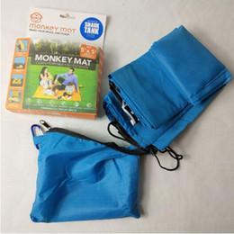 Wholesale shark blankets - New Monkey Mat 150*150cm Multi Purpose Portable Floor Blanket Cover Blue Yonder Shark Tank Outdoor Picnic Mat Beach Blankets CCA8694 30pcs