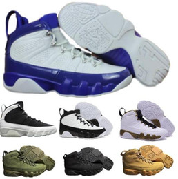 Wholesale Blue Statue - Air 9 Basketball Shoes Men Women Black Space Jam Anthracite Copper Statue Barons Suede Fabric 9s IX Authentic Sport Trainer Mens Sneakers