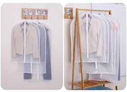 Wholesale Garment Organizer - Cloth Dustproof Cover Garment Organizer Suit Dress Jacket Clothes Protector Pouch Travel Storage Bag With Zipper
