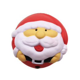 Wholesale Puppets For Kids - 7cm Christmas Squishy Toys for Kids slow rising squishy Finger Doll Puppets Santa Claus Snow Man Jumbo Toy Christmas Gift OTH739