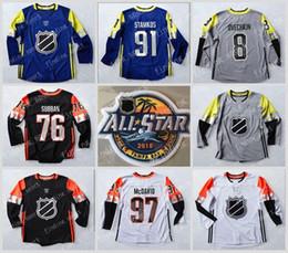 Wholesale Ice Hockey Games - Custom 2018 All-Star Hockey Jerseys 97 Connor McDavid 76 P.K. Subban 91 Steven Stamkos Men's 8 Alex Ovechkin Game Hockey Jerseys Stitched