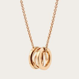 Collar de cuello alto para las mujeres online-Las mujeres de alta calidad de lujo 18 K oro cadena de plata esterlina primavera collares pendientes 3 colores de las mujeres de oro rosa marca collar joyería