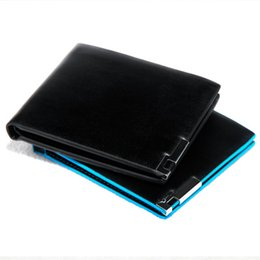 Wholesale Open Paragraph - Hot New Digh Quality Men's Short Paragraph Hit Color Wallet Iron Side Korean Cross Section Wallet Color Card Package