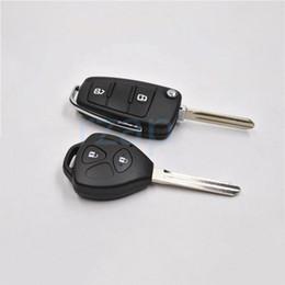 2019 cáscara del caso del mando a distancia nissan Nuevo coche plegable Control remoto clave Shell para JAC J2 Yueyue J3 Tojoy J5 Heyue 2