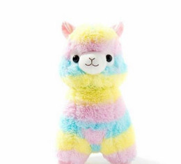 Lindo Arco Iris Alpacasso Kawaii Alpaca Llama Arpakasso Suave Juguete de Peluche de Muñeca de Regalo desde fabricantes