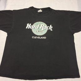 Hard Rock Cafe Vintage T-shirt Fino Macio Restaurante Cleveland Deli Casino Bar cheap restaurant shirts de Fornecedores de camisas de restaurante