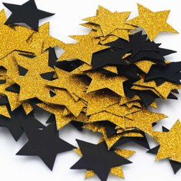 Wholesale table glitter for weddings - Black Gold Table Confetti Glitter Paper Dots Confetti Circles for Christmas Wedding, Table and Party Decoration