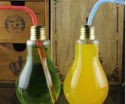 besteck steht Rabatt Kreative auffällige Glühbirne Form Tee Fruchtsaft Getränk Flasche Tasse Pflanze Blume Glas Vase Home Office Schreibtisch Dekoration
