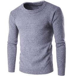 2018 pullover adrette männer Männer Pullover 2018 Neue Ankunft Casual  Solide Oansatz Grund Pullover Männlich WinterAutumn eb80ee4b1d