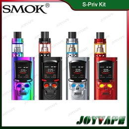 Wholesale Vw S - Authentic SMOK S-Priv Kit 5ML 225W S-Priv Mod TC VW Memory Mode With TFV8 Big Baby Light Edition Firmware Upgradable Vaporizer 100% Original