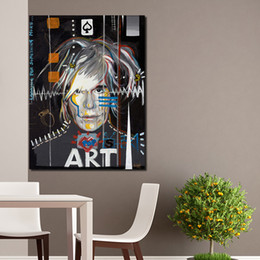 2019 dipinti di celebrità Andy Warhol Painting Celebrity Culture And Advertisement That Flourished Wall Art Dipinti su tela per soggiorno No incorniciato dipinti di celebrità economici