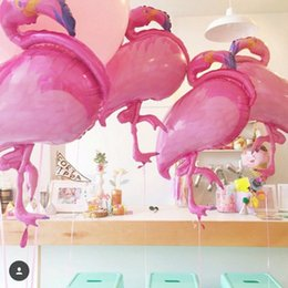 Wholesale Helium Balloons Big - Big Flamingo Aluminum Foil Balloon Helium Air Balloon Cartoon Birthday Party Wedding Props Celebration Decoration Supplies AAA60