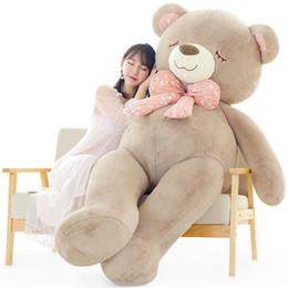 00f2e067877 jumbo fat bear plush toy hug sleeping bears doll oversized tie bear pillow  for girl Christmas gift decoration 63inch 160cm DY50477
