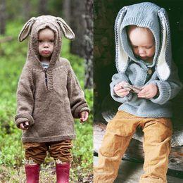 roupas bonitos do bebê para o inverno Desconto 2018 Bonito Recém-Nascido Infantil Camisola De Malha Baby Boy Blusas de Inverno Warn Pullovers Crochet Encabeça Outfits Baby Girl Roupas de Inverno