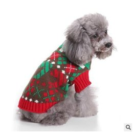 christmas striped turtleneck sweater for dog clothes warm knitted xmas santa claus pet small dog sweater clothing coat classic pet outfit