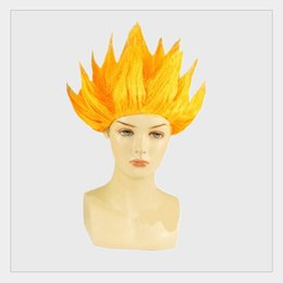 Wholesale Dragon Wig - Novelty Toy Anime Cartoon Wukong Cos play Children Performance Wig Comic Dragon Ball Fluffy Cos Lotus Head Party Costumes Hair