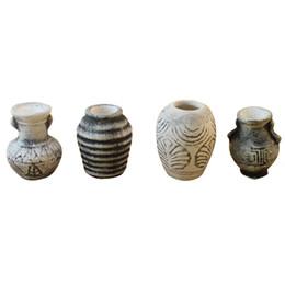 Deutschland 1/12 Puppenhaus Miniatur Vintage Porzellan Keramik Totem Vase Blumentöpfe 4-tlg cheap miniatures porcelain Versorgung
