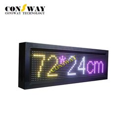 Wholesale Moving Led Display - Free shipping and CE approved programmable led moving display board with WIFI and siz 720*240mm