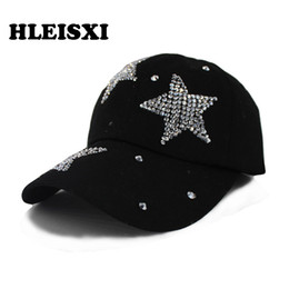 Wholesale beauty woman hip - HLEISXI Brand Top Fashion Hip Hop Women Summer Star Casual Baseball Cap Girls Adjustable Floral Hat Caps Adult Beauty Gorros